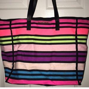 Victoria's Secret striped beach tote